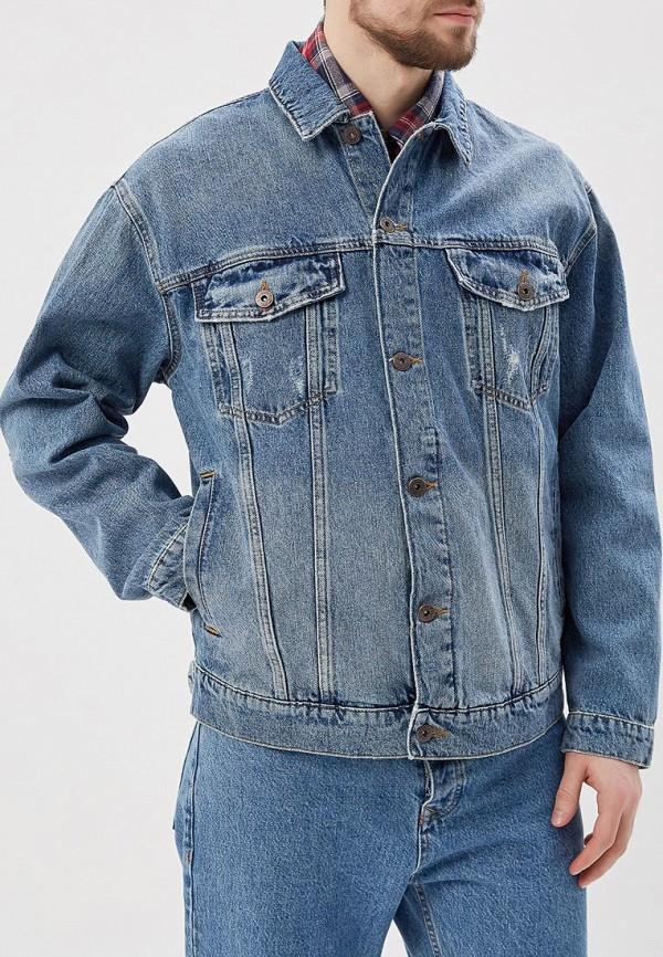 Куртка джинсовая Topman Topman TO030EMARXK4 рубашка джинсовая topman topman to030emwym93