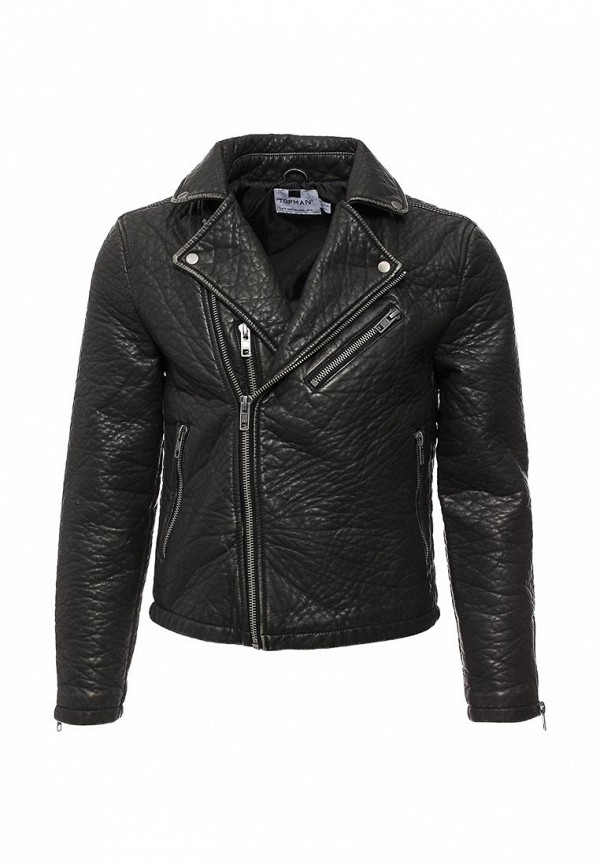 Кожаная куртка Topman 64M06LBLK