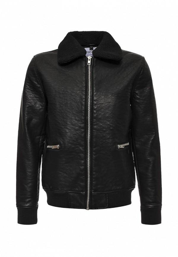 Кожаная куртка Topman (Топмэн) 64M08LBLK