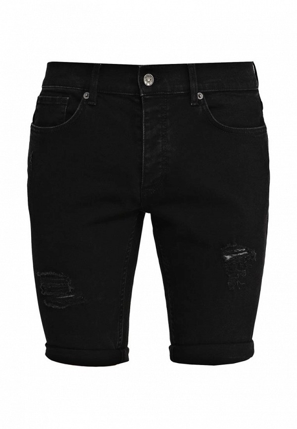 Мужские джинсовые шорты Topman 33C58KBLK