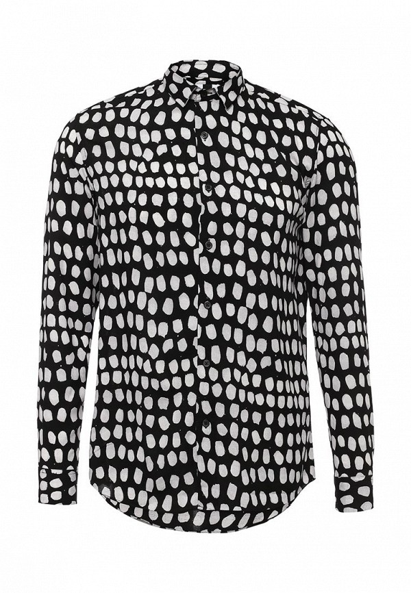 Рубашка с длинным рукавом Topman (Топмэн) 83U03MBLK