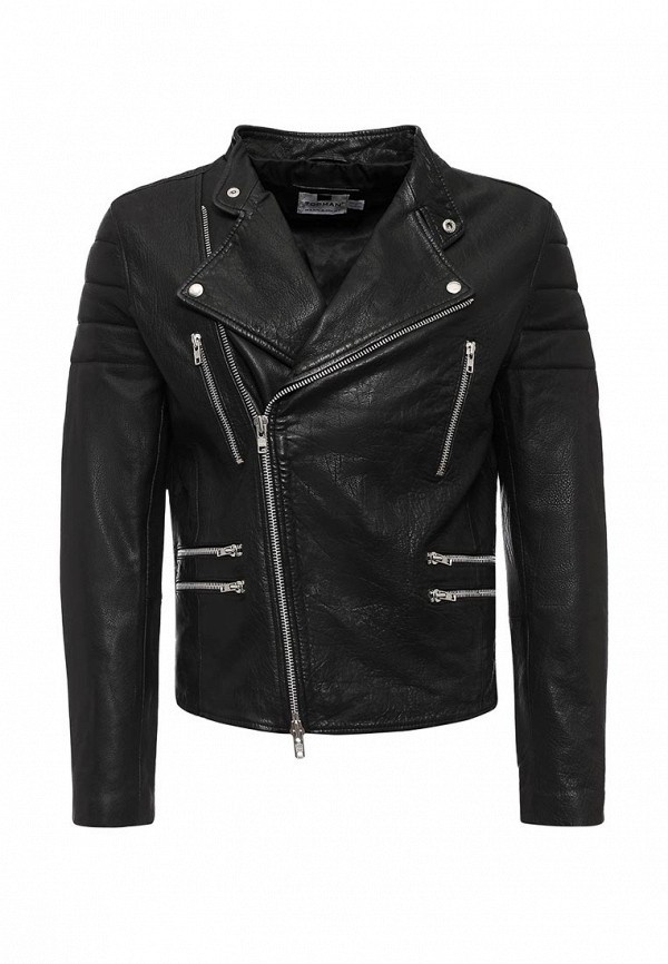 Кожаная куртка Topman (Топмэн) 64L06MBLK