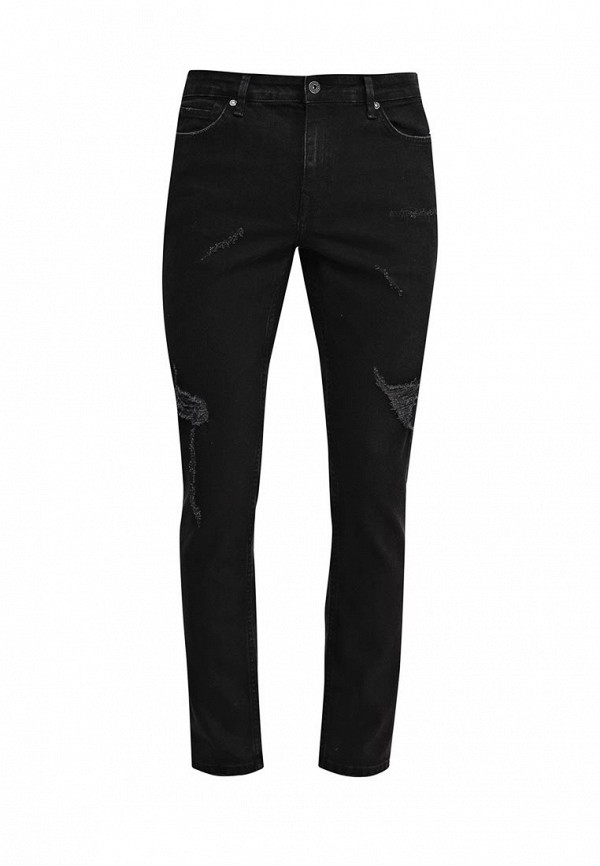 Мужские прямые джинсы Topman (Топмэн) 69B05MBLK