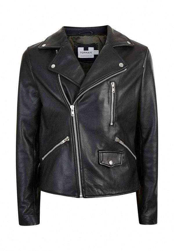 Кожаная куртка Topman (Топмэн) 64J03LBLK
