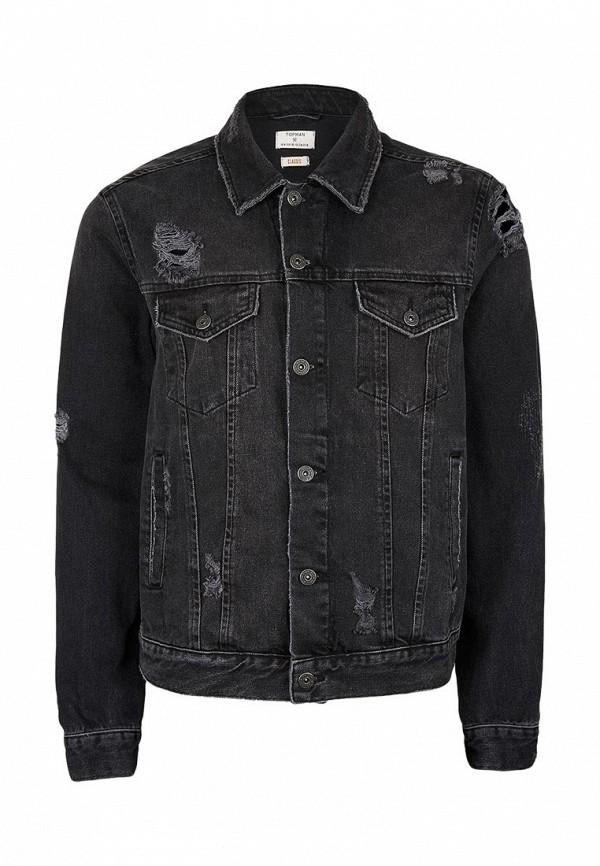 Джинсовая куртка Topman (Топмэн) 64P23LBLK