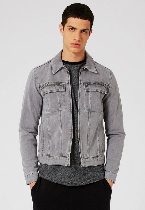 Куртка джинсовая Topman Topman TO030EMTQR55 рубашка джинсовая topman topman to030emwym93