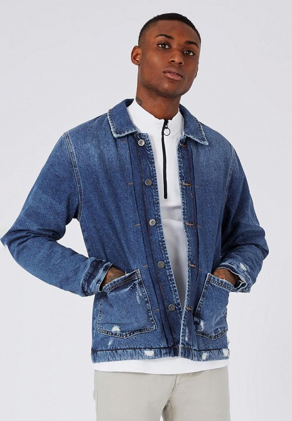 Куртка джинсовая Topman Topman TO030EMWYM51 рубашка джинсовая topman topman to030emwym93