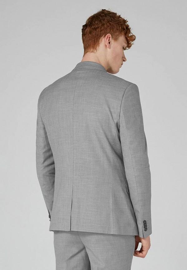 Фото 3 - мужской пиджак Topman серого цвета
