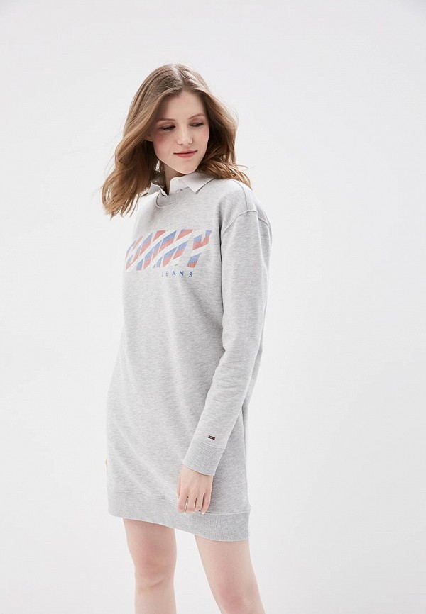 Платье Tommy Jeans Tommy Jeans TO052EWAIIY9 поло tommy jeans tommy jeans to052ewaijb4