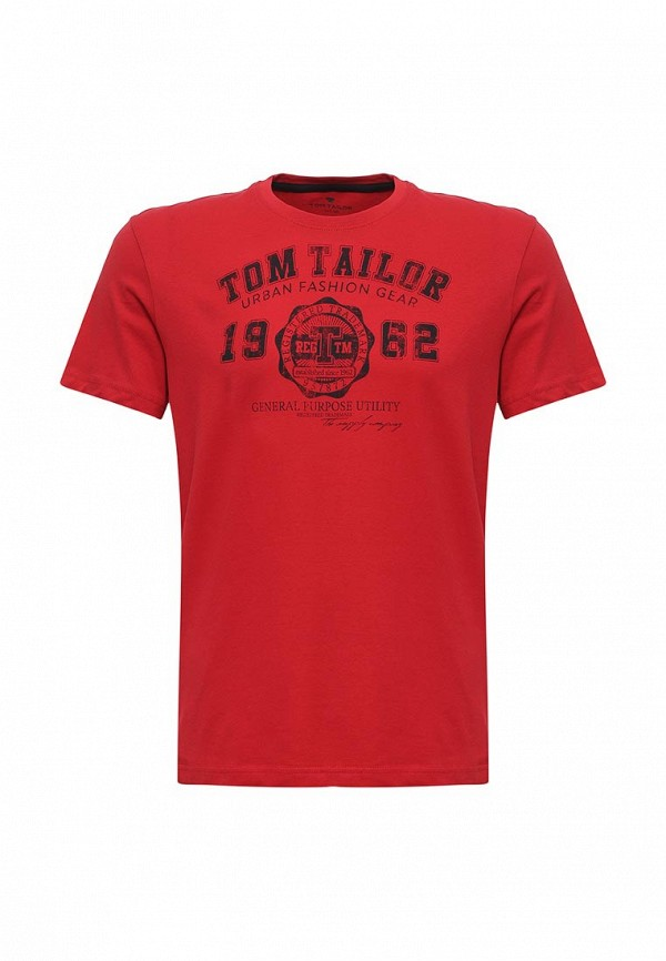 Футболка Tom Tailor. Цвет: красный