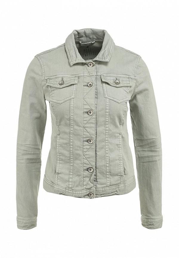 Куртка джинсовая Tom Tailor. Цвет: зеленый