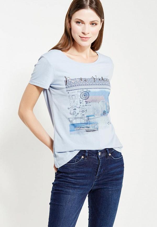Фото - женскую футболку Tom Tailor голубого цвета