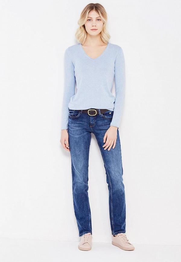 Фото 2 - женский пуловер Tom Tailor голубого цвета