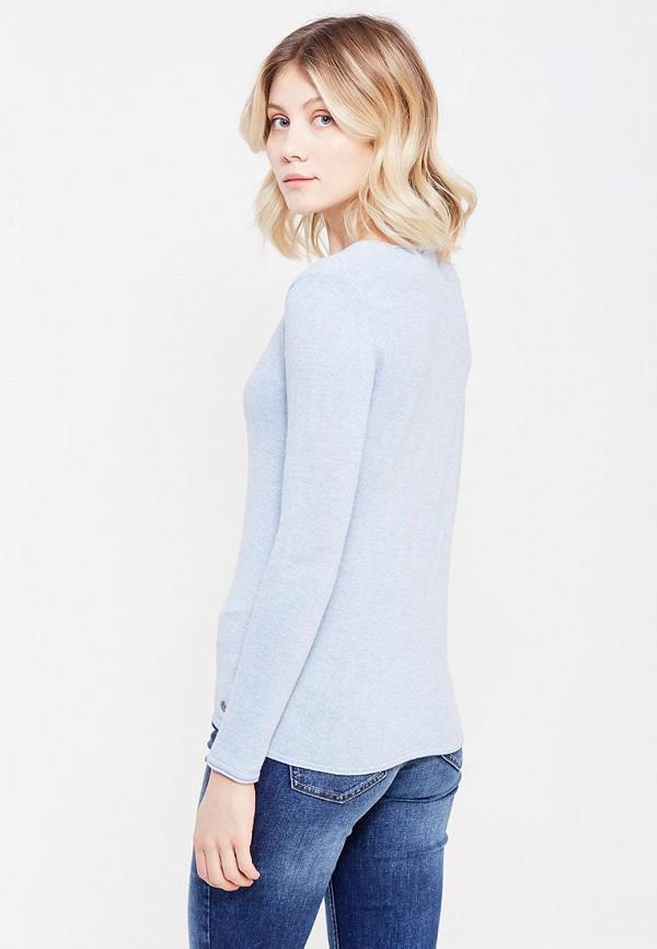 Фото 3 - женский пуловер Tom Tailor голубого цвета