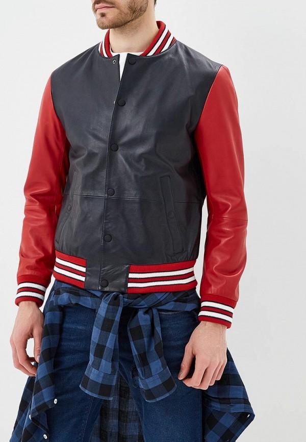 Куртка кожаная Tommy Hilfiger Tommy Hilfiger TO263EMAGTT8 куртка tommy hilfiger mw0mw02101 403 sky captain