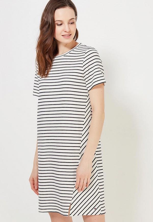 Купить Платье Tommy Hilfiger, TO263EWAITP5, белый, Весна-лето 2018
