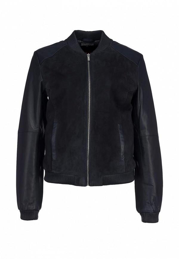 Куртка кожаная Tommy Hilfiger TO263EWBUN13. Цвет: синий