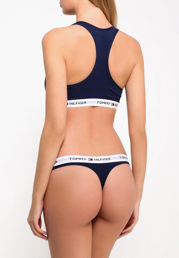 Фото 8 - женские трусы Tommy Hilfiger синего цвета
