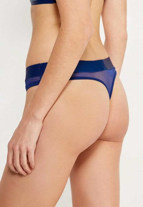 Фото 3 - женские трусы Tommy Hilfiger синего цвета
