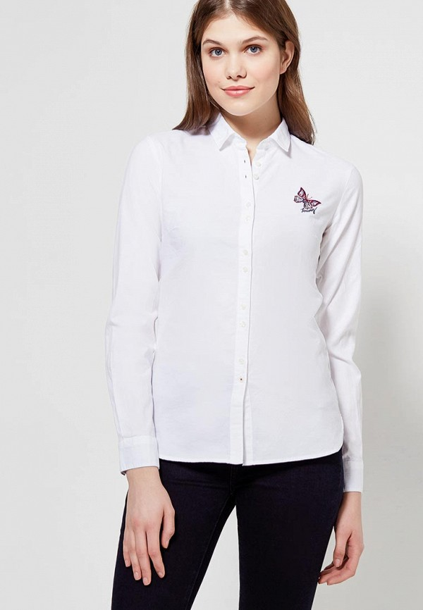 Рубашка Tommy Hilfiger Tommy Hilfiger TO263EWZFV87 рубашка tommy hilfiger mw0mw01495 902 shirt blue classic white