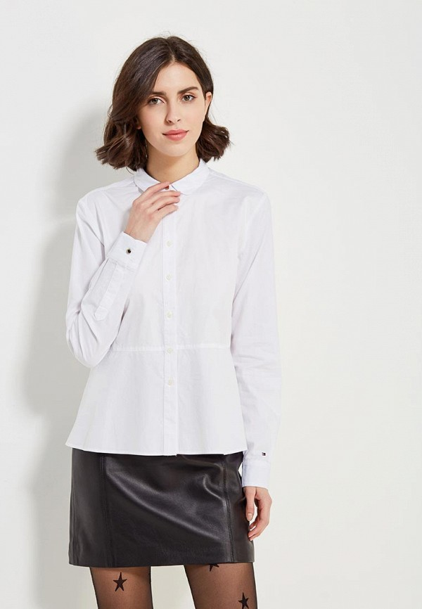 Рубашка Tommy Hilfiger Tommy Hilfiger TO263EWZFV96 рубашка tommy hilfiger mw0mw01495 902 shirt blue classic white