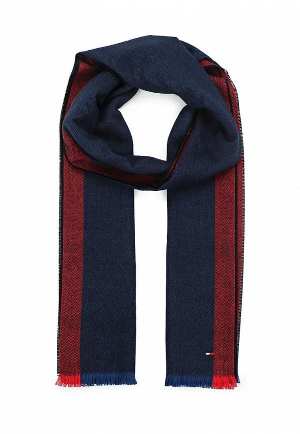 Мужской синий немецкий осенний шарф
