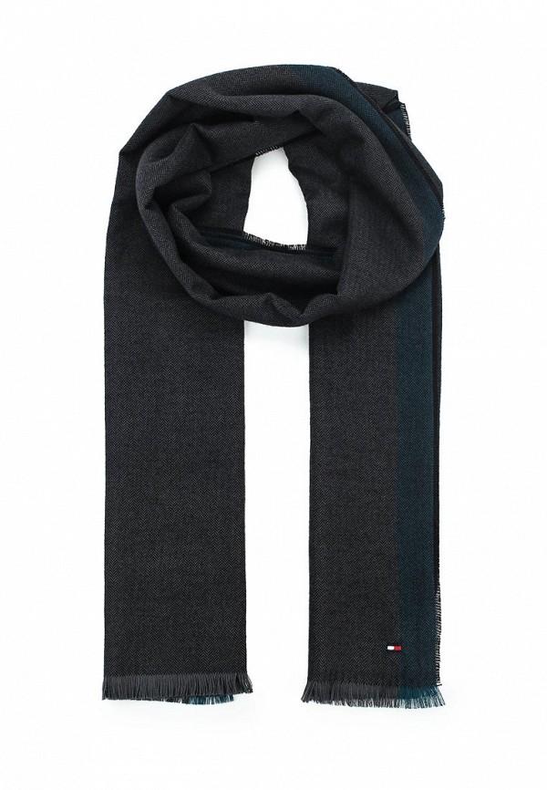 Мужской черный немецкий осенний шарф