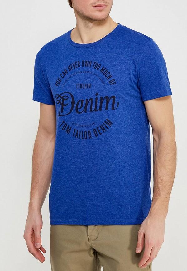 Футболка Tom Tailor Denim Tom Tailor Denim TO793EMACPN8 блузка женская tom tailor denim цвет темно синий 1036105 01 71 6901 размер xs 42