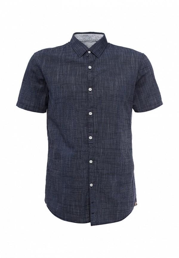 Купить мужскую рубашку Tom Tailor Denim синего цвета