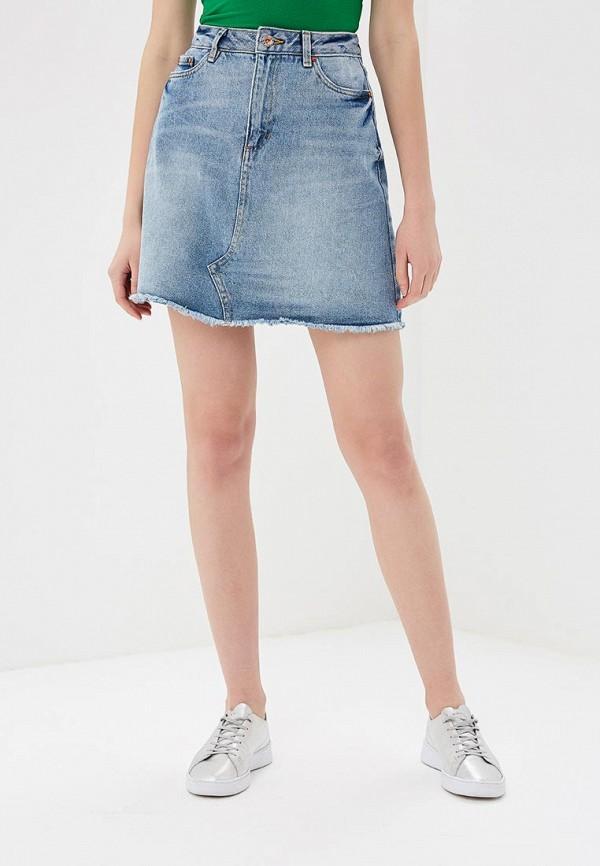 Юбка джинсовая Tom Tailor Denim Tom Tailor Denim TO793EWBMTU7 цена