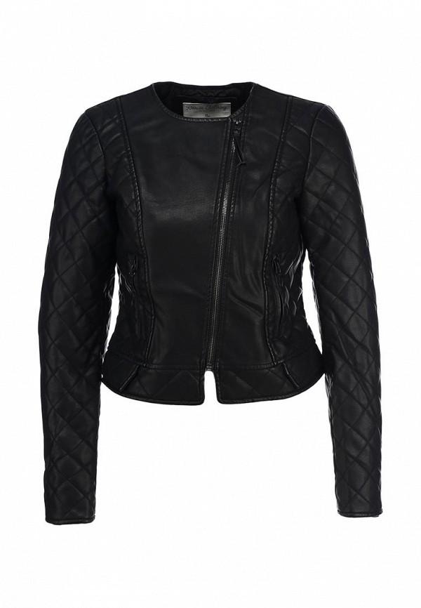 Куртка кожаная Tom Tailor Denim TO793EWCJK45. Цвет: черный