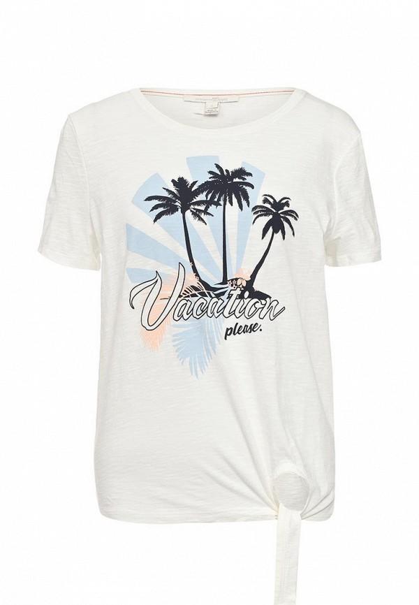 Купить женскую футболку Tom Tailor Denim белого цвета