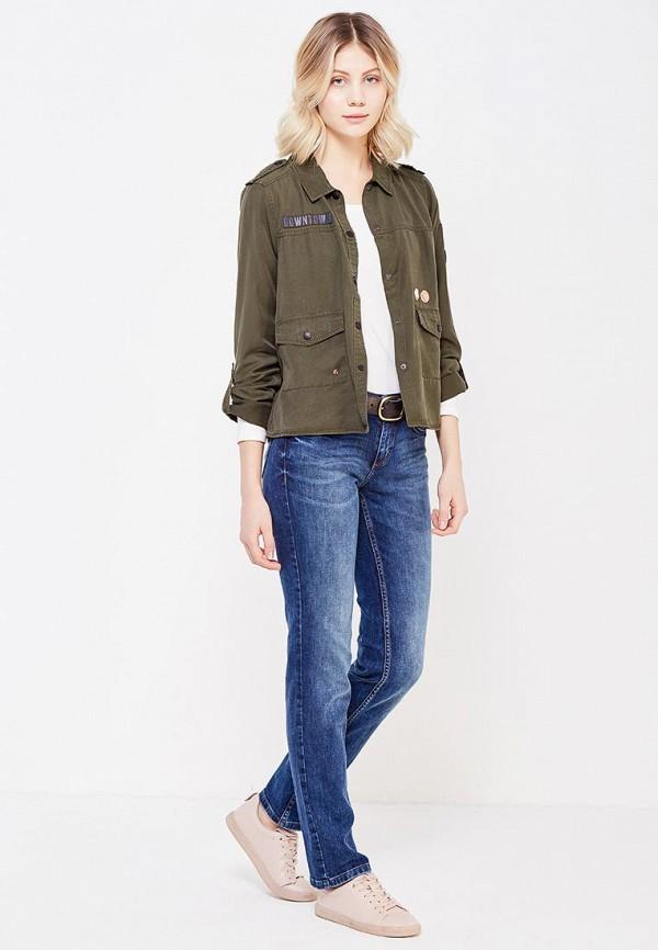 Фото 2 - женскую блузку Tom Tailor Denim цвета хаки