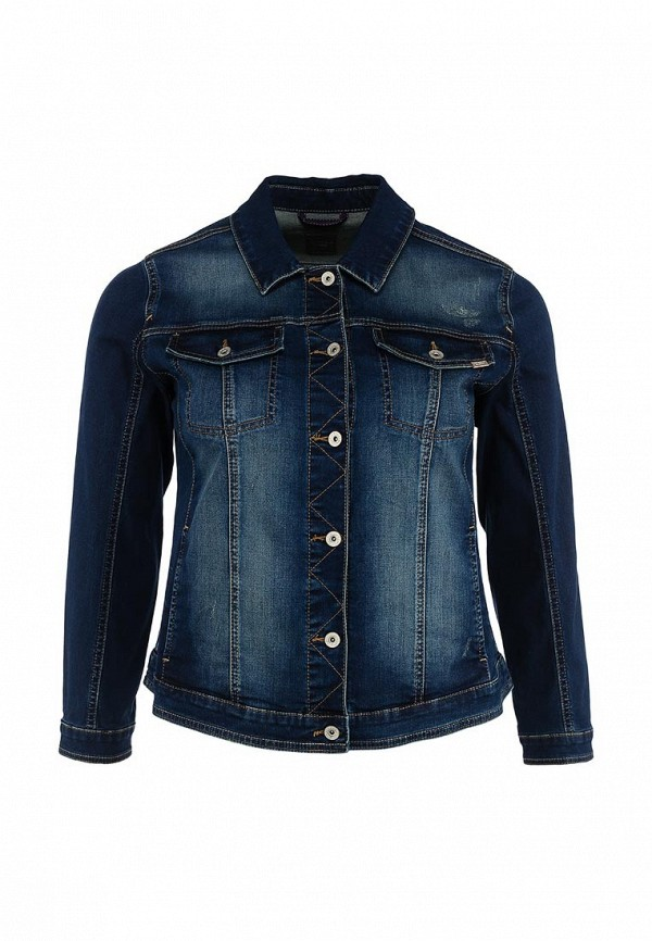 Куртка джинсовая Triangle by s.Oliver. Цвет: синий