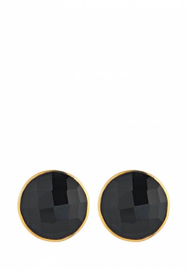 Серьги Trisori. Цвет: золотой, черный