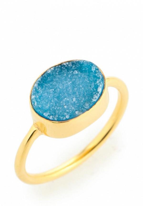 Кольцо Trisori. Цвет: голубой, золотой