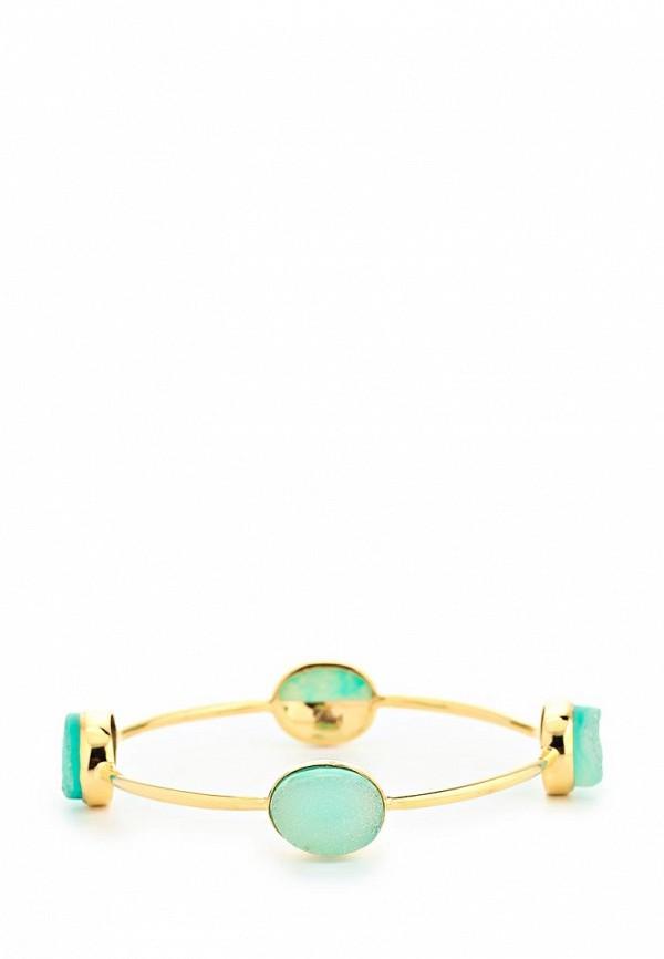 Браслет Trisori. Цвет: зеленый, золотой