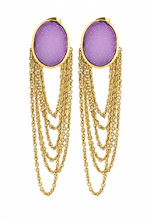 Серьги Trisori. Цвет: золотой, фиолетовый