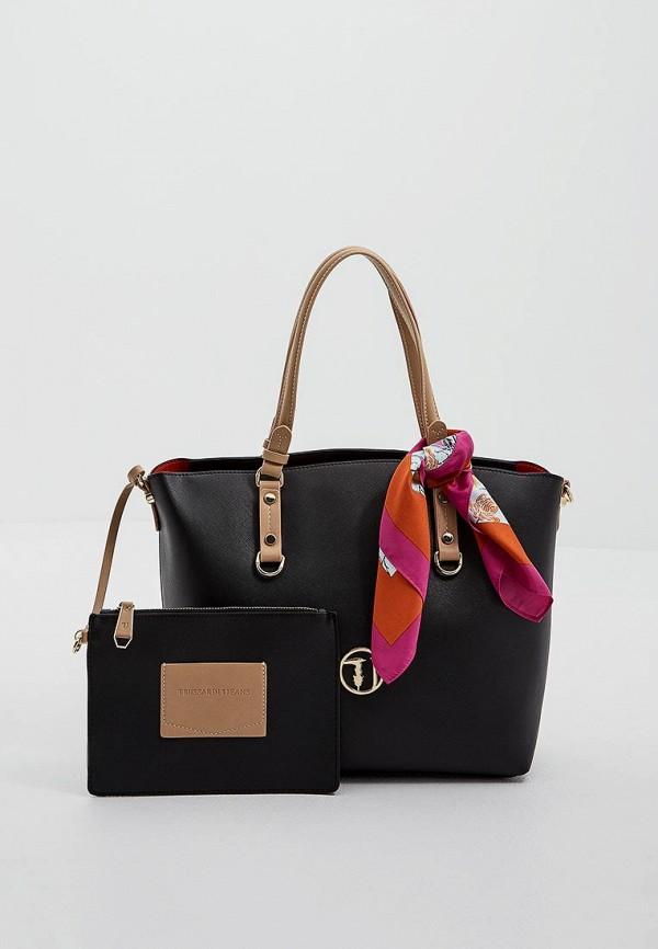 Сумка-шоппер  черный цвета