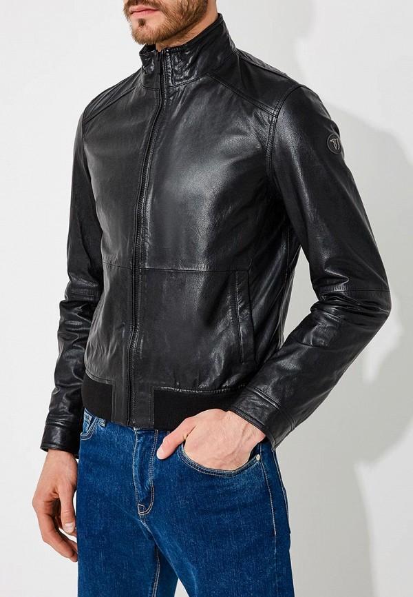 Куртка кожаная Trussardi Jeans Trussardi Jeans TR016EMYXK70