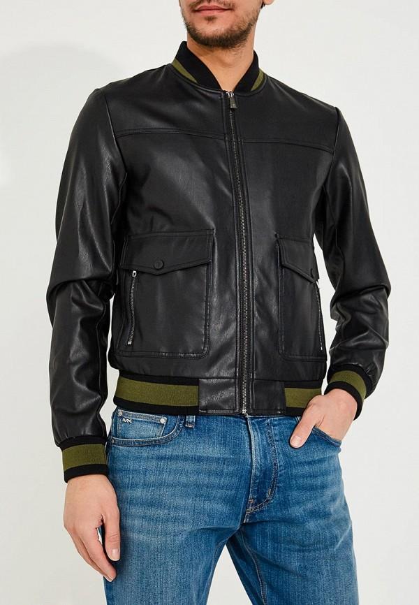 Фото Куртка кожаная Trussardi Jeans. Купить с доставкой
