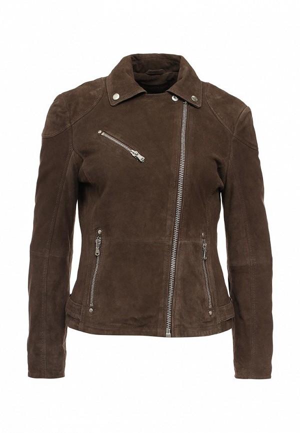 Купить Куртку кожаная Trussardi Jeans коричневого цвета