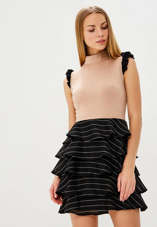 Купить Платье Tutto Bene, TU009EWBCRF2, бежевый, Весна-лето 2018