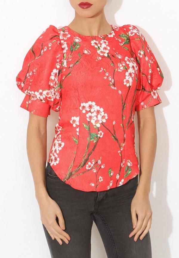 Фото 3 - женскую блузку Tutto Bene красного цвета