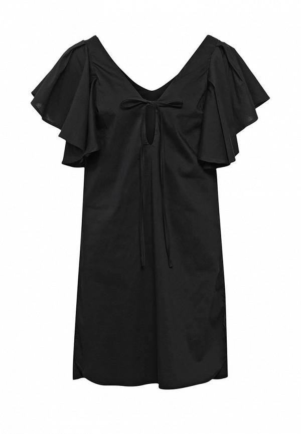 Фото - женское платье Tutto Bene черного цвета