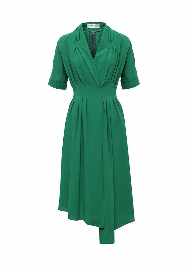 Фото - женское вечернее платье Tutto Bene зеленого цвета