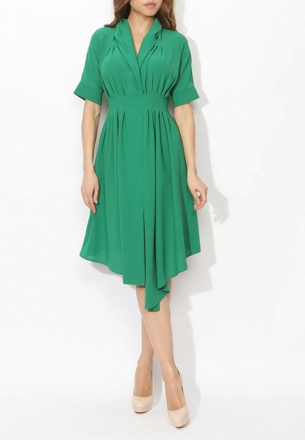 Фото 2 - женское вечернее платье Tutto Bene зеленого цвета