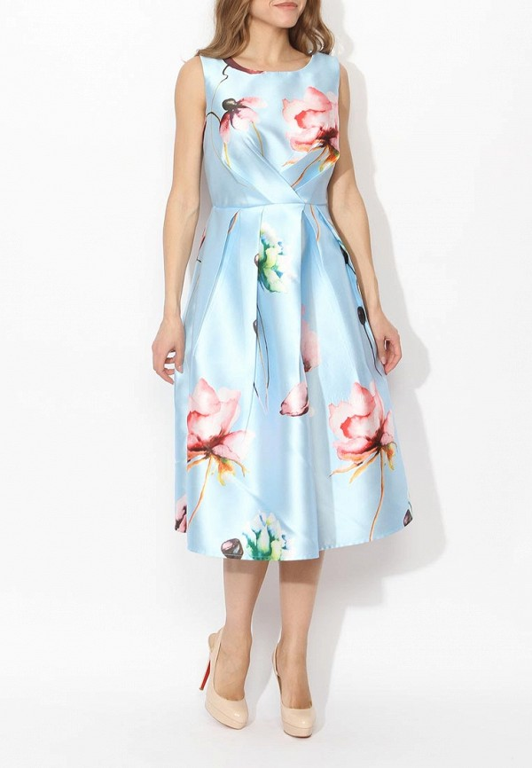 Фото 3 - женское вечернее платье Tutto Bene голубого цвета