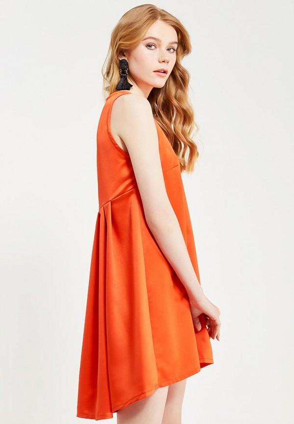 Фото - женское вечернее платье Tutto Bene оранжевого цвета