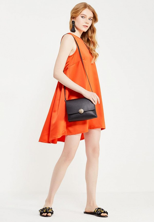 Фото 2 - женское вечернее платье Tutto Bene оранжевого цвета